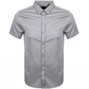 Armani Exchange Short Sleeved Slim Fit Shirt Grey